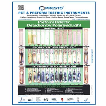 Analyze The Defects In Preforms With Preform Defect Chart