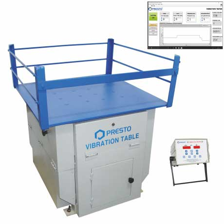 Vibration Table for Checking the Road worthiness of Packages