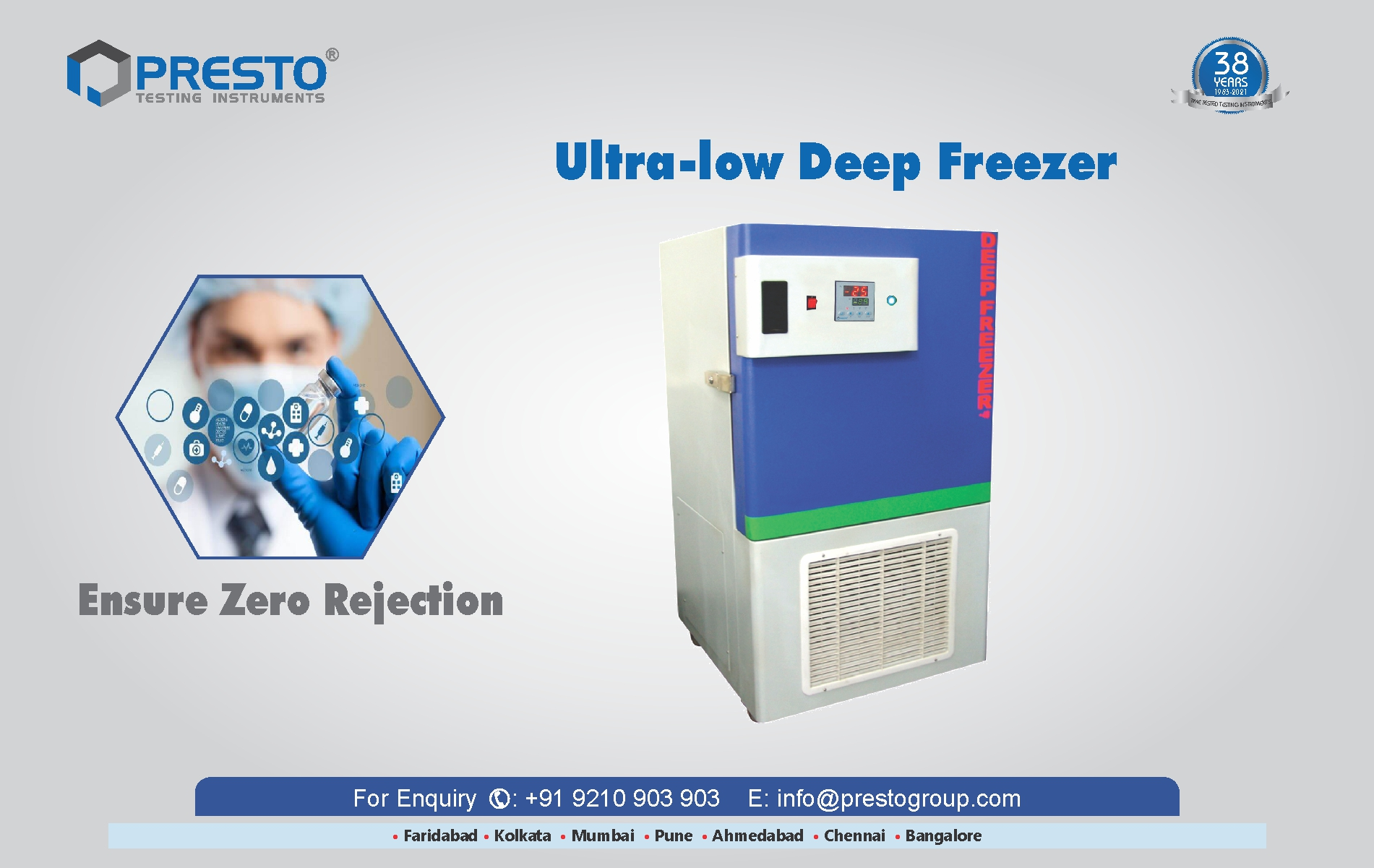 Ultra-Low Deep Freezer for Laboratory and Medical Purposes