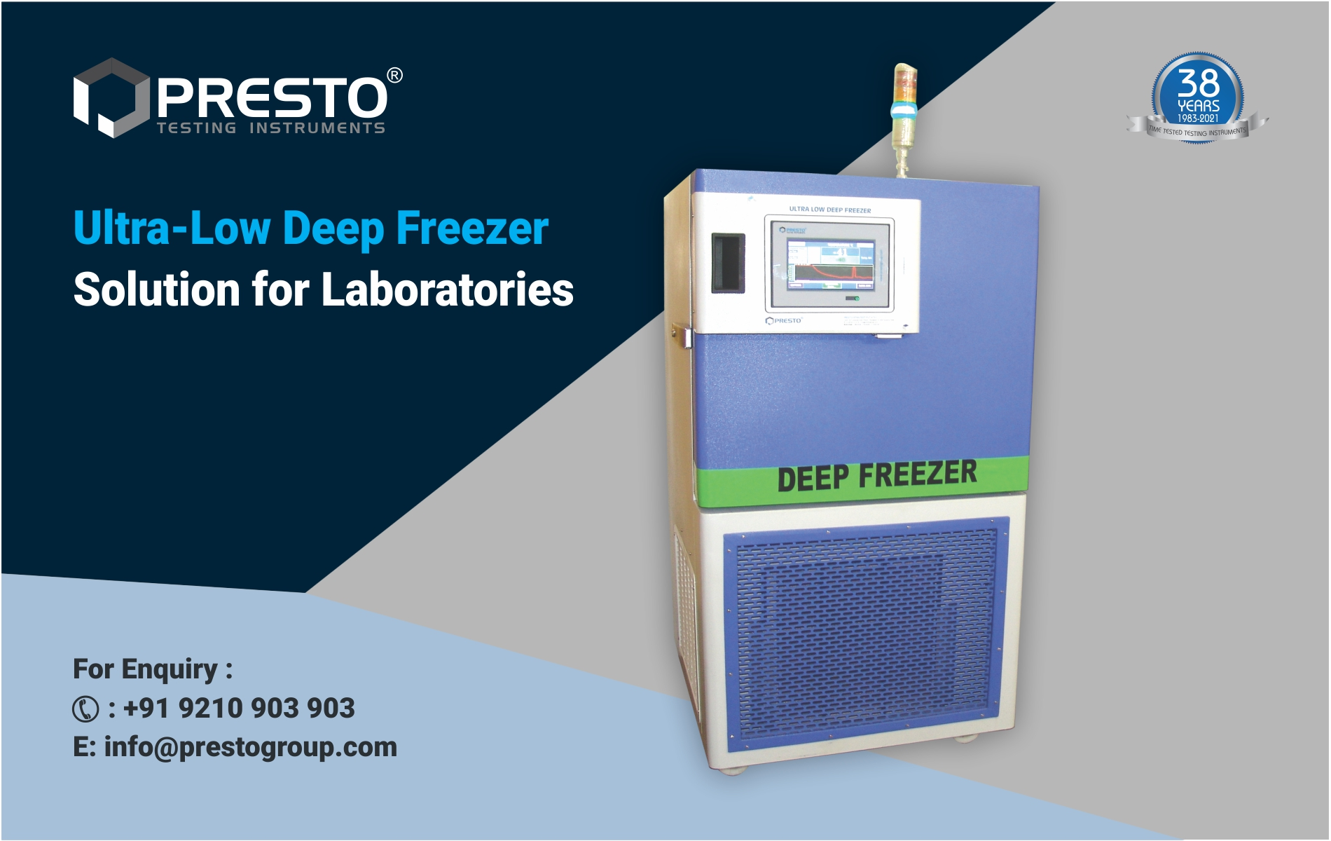 Ultra-low Deep freezer Solution for Laboratories