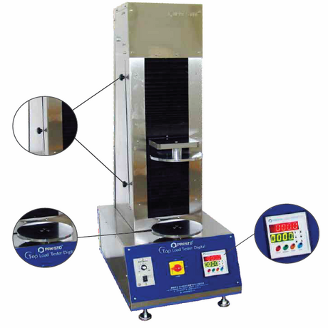 Top Load Tester- Digital SS Patent No:- 98211